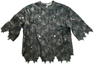 Erdem Black Leather Top for Women