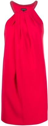 Emporio Armani Beaded Collar Shift Dress