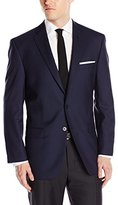 Calvin Klein Men's Malik Fit Two-Button Notch-Lapel Mini Grid Jacket