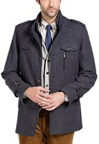 OCHENTA Men's Classic Winter Jacket Wool Pea Coat