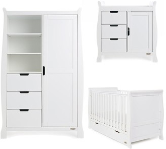 O Baby Obaby Stamford Classic Sleigh 3-Piece Nursery Furniture Set