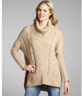 Romeo & Juliet Couture beige cable knit oversize turtleneck sweater