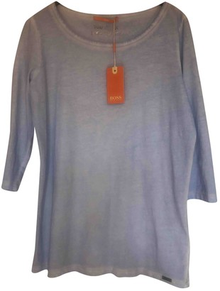 BOSS ORANGE Blue Cotton Top for Women