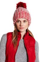 Natasha Accessories Two-Tone Faux Fur Knit Beanie