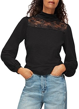 Whistles Lace Insert Top