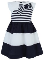 Mayoral Stripe Panel Sleeveless Dress