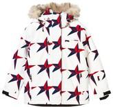 Perfect Moment Navy and Red Star Print Qanuk Pro III Ski Jacket