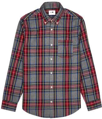 NN07 Levon Grey Checked Cotton Shirt
