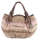 M Missoni Leather-Trimmed Woven Tote
