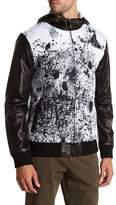 Daniel Won Wyatt Hooded Leather Sleeve Jacket