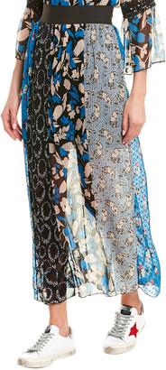 Anna Sui Cherry Picnic Silk Maxi Skirt