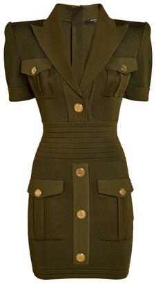 Balmain Button-Embellished Mini Dress