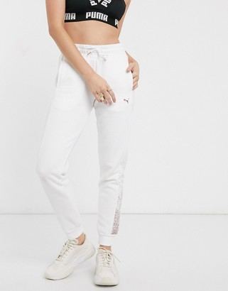 Puma metallic jogger in white