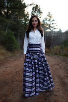 Shabby Apple Plaid Candy Cane Maxi Skirt