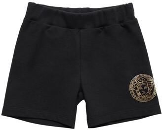 Versace Medusa Print Cotton Sweat Shorts