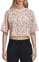 adidas Floral Print Cropped Tee