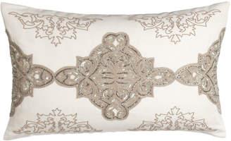 "Callisto Home Avalon Sequined/Beaded Pillow, 16"" x 26"""