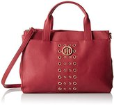 Tommy Hilfiger Eyelet Shopper Convertible Top Handle Bag