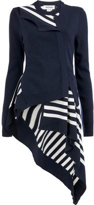 Monse striped asymmetric cardigan