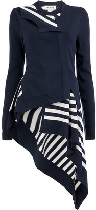 Monse Striped Twisted Flared Cardigan