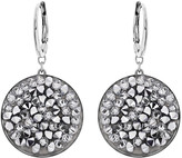 Swarovski Crystal Rock Round Pierced Earrings