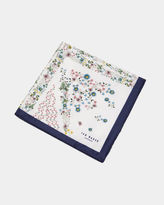 Union Jack Floral Silk Pocket Square