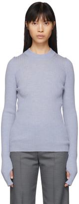 Maison Margiela Blue Wool Gauge 14 Sweater
