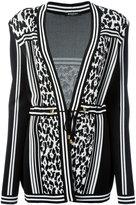 Balmain - striped leopard belted