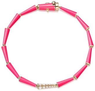 Melissa Kaye 18kt yellow gold and diamond Lola bracelet