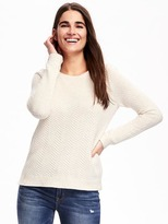 Old Navy Relaxed Textured Crew-Neck Sweater for Women
