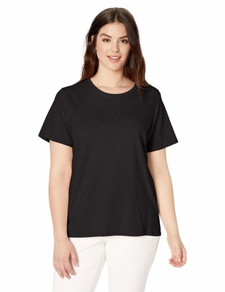 Calvin Klein Women's Plus Size Embossed Logo T-Shirt