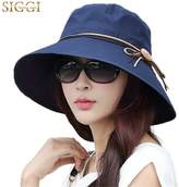 Siggi Bucket Cord Sun Summer Beach Hat with Wide Brim for Women Foldable UPF50+ Navy