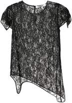 Givenchy floral lace asymmetric top