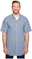 Nautica Big & Tall Short Sleeve Medium Plaid Wrinkle Resistant Woven Shirt