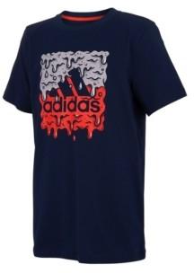 adidas Big Boys Short Sleeve Slime Badge of Sport T-shirt - ShopStyle