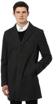 Red Herring Grey Wool Button Down Peacoat