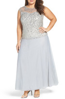 Pisarro Nights Embellished Popover Gown (Plus Size)