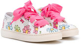 MonnaLisa floral print sneakers - kids - Canvas/rubber - 32