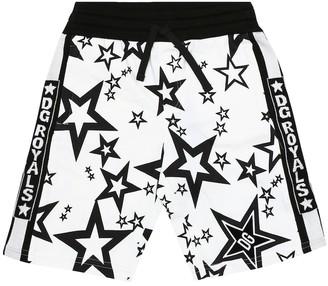 Dolce & Gabbana Kids Printed cotton bermuda shorts