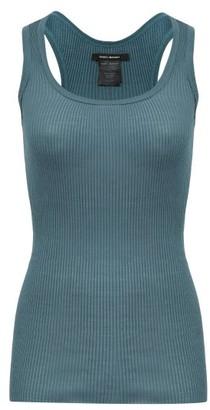 Isabel Marant Louisanea Ribbed Silk-jersey Tank Top - Womens - Green