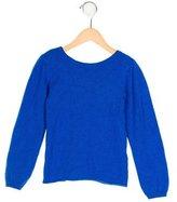Oscar de la Renta Girls' Cashmere Crew Neck Sweater