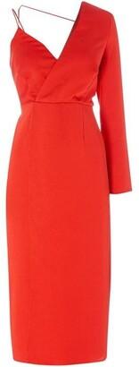 Issa One sleeve midi dress