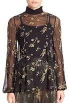 Suno Plaid Mohair Sequined Silk Tunic