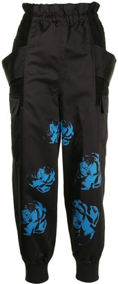 Undercover Rose-Print Cargo Trousers