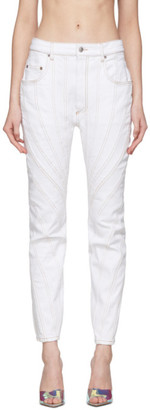 Thierry Mugler White Twist Jeans