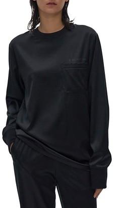 Helmut Lang Silk-Blend Long-Sleeve Top