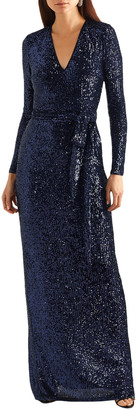 Naeem Khan Belted Sequined Tulle Gown
