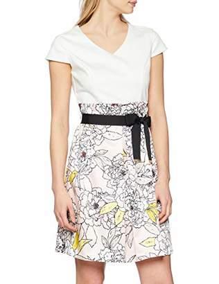 S'Oliver BLACK LABEL Women's 11.903.82.7010 Dress, Pink (Sheer Nude AOP A1), 14 (Herstellergröße: )