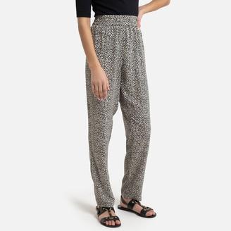 Jacqueline De Yong Straight Floral Print Trousers