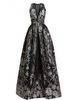 ZUHAIR MURAD Japanese Garden V-Neck Ball Gown